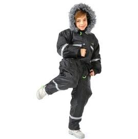 חרמונית לילדים חגור צבע שחור עם פסים זוהרים