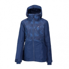 מעיל סקי מבודד עם כובע Outdoor BRENDA-כחול