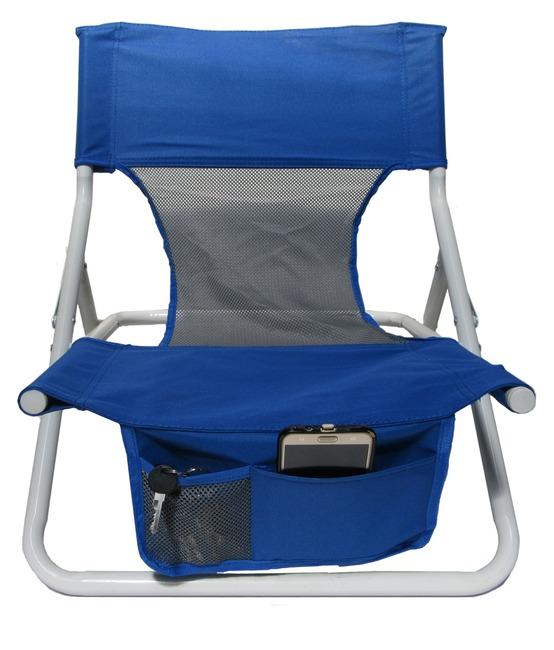 כסא חוף נמוך מתקפל