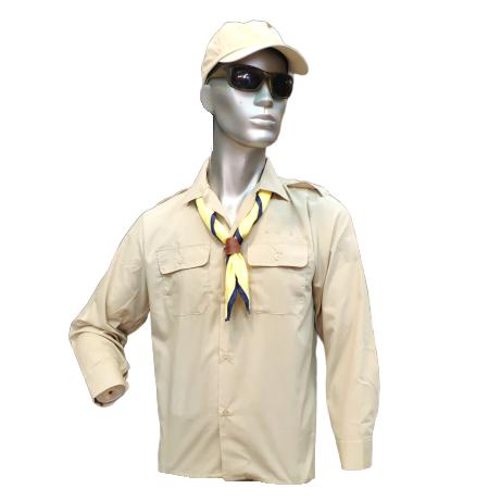 חולצת חאקי צופים ומכבי צעיר ללא סמלים